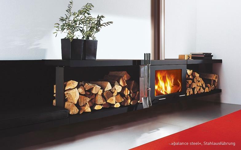 Ready Made Fireplaces : Ready made fireplace skantherm balance kaminat